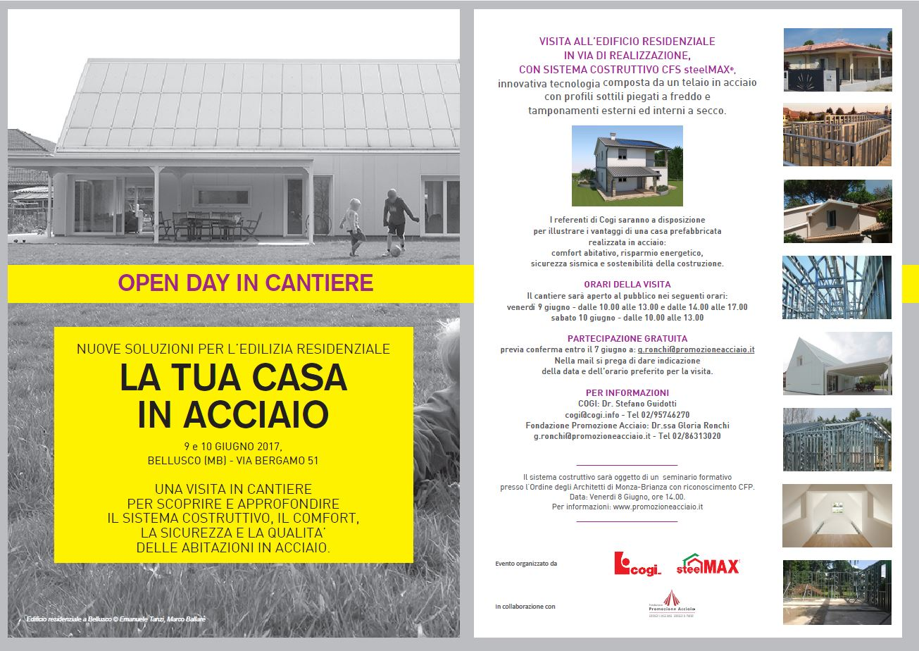 Open Day in cantiere
